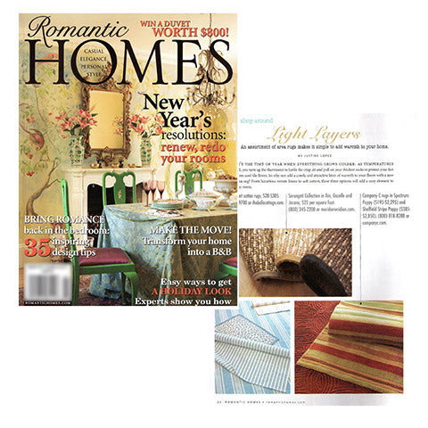 Romantic Homes, Jan 2011 Issue!