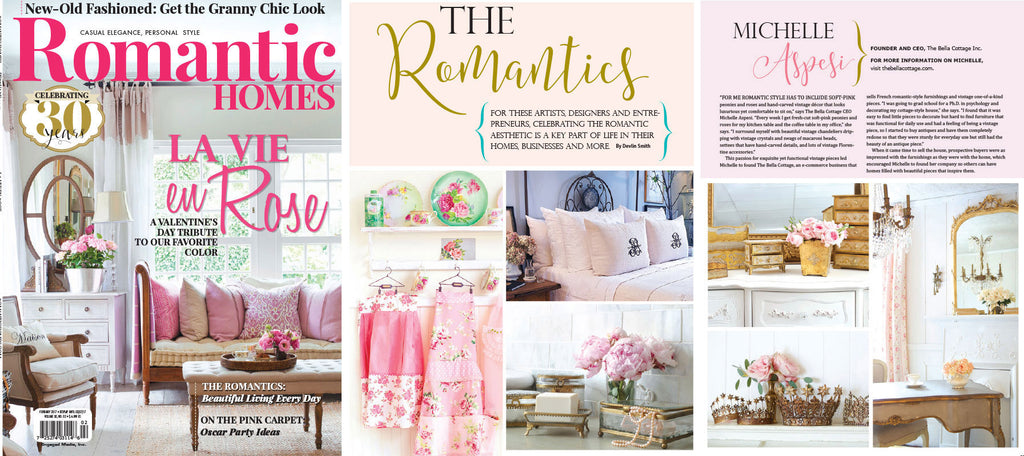 Romantic Homes - La Vie En Rose - February 2017