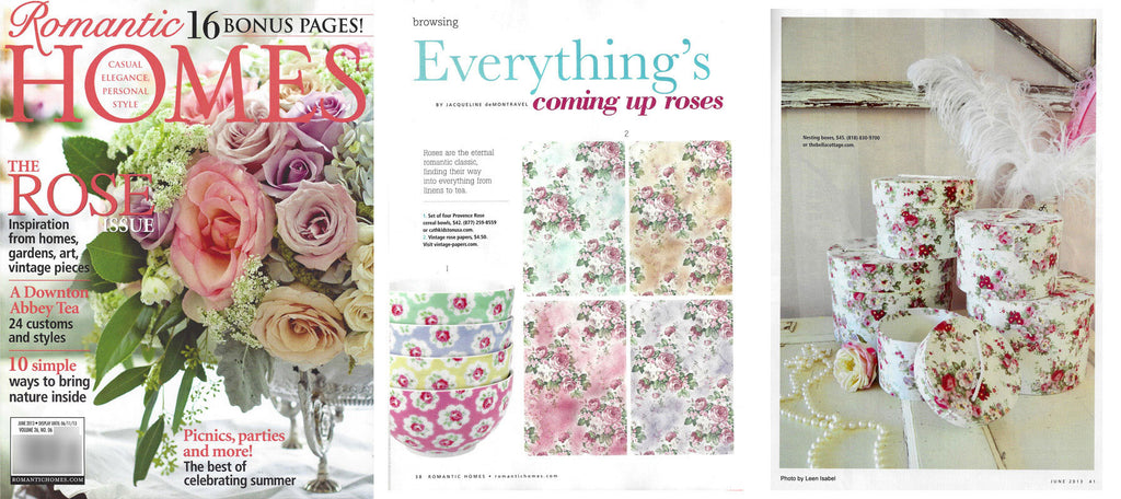Romantic Homes - The Rose Issue - June 2013