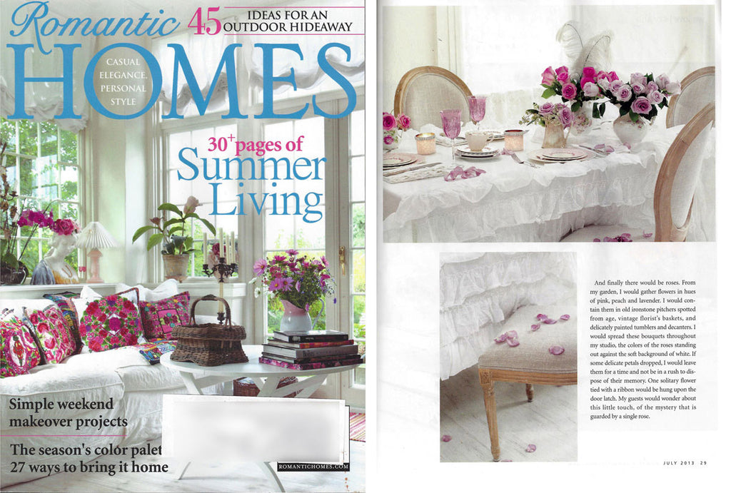 Romantic Homes - Summer Living - July 2013