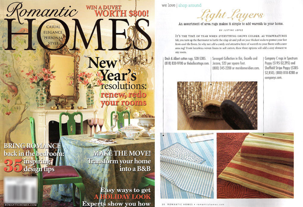 Romantic Homes, Jan 2011 Issue