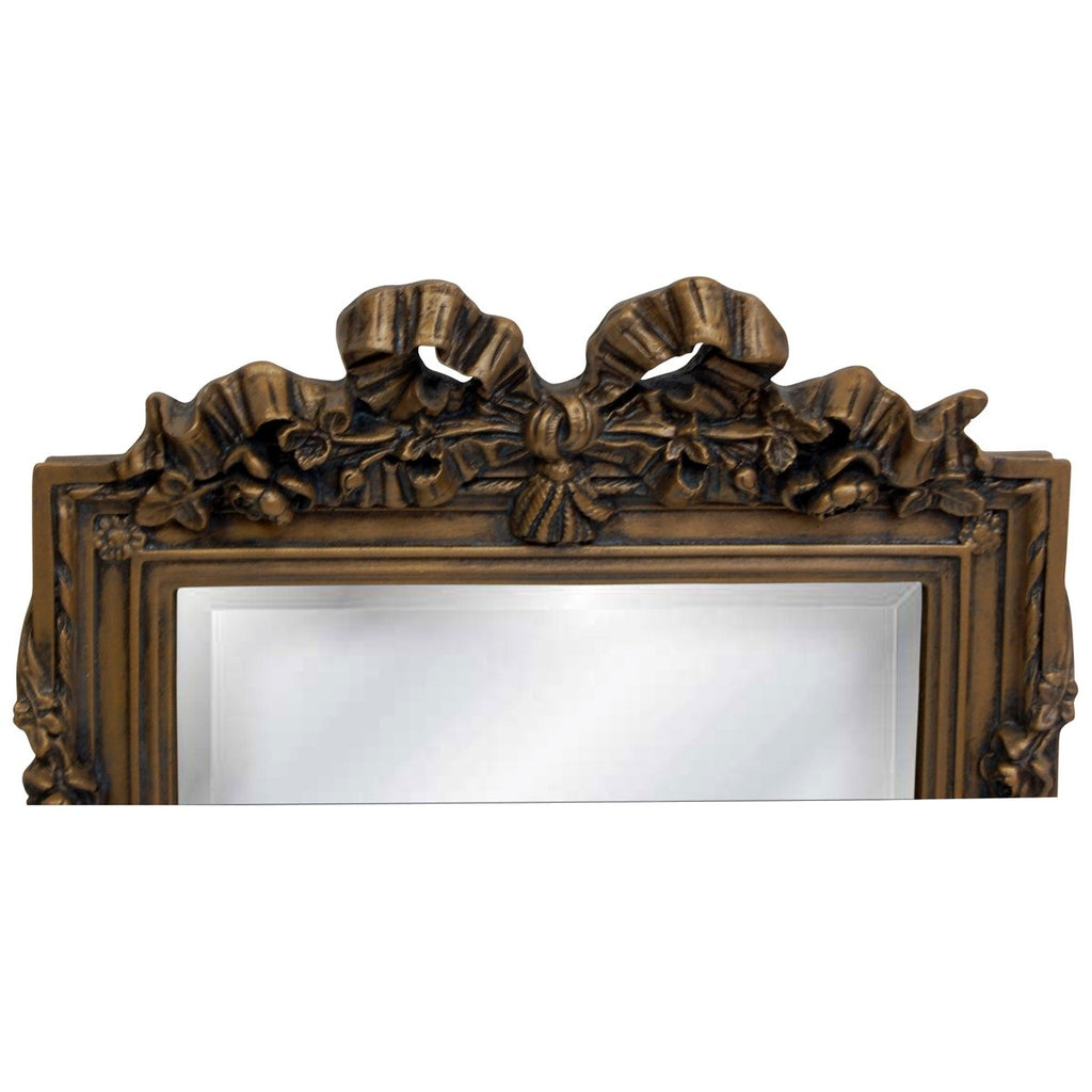 Bow Top Beveled Mirror