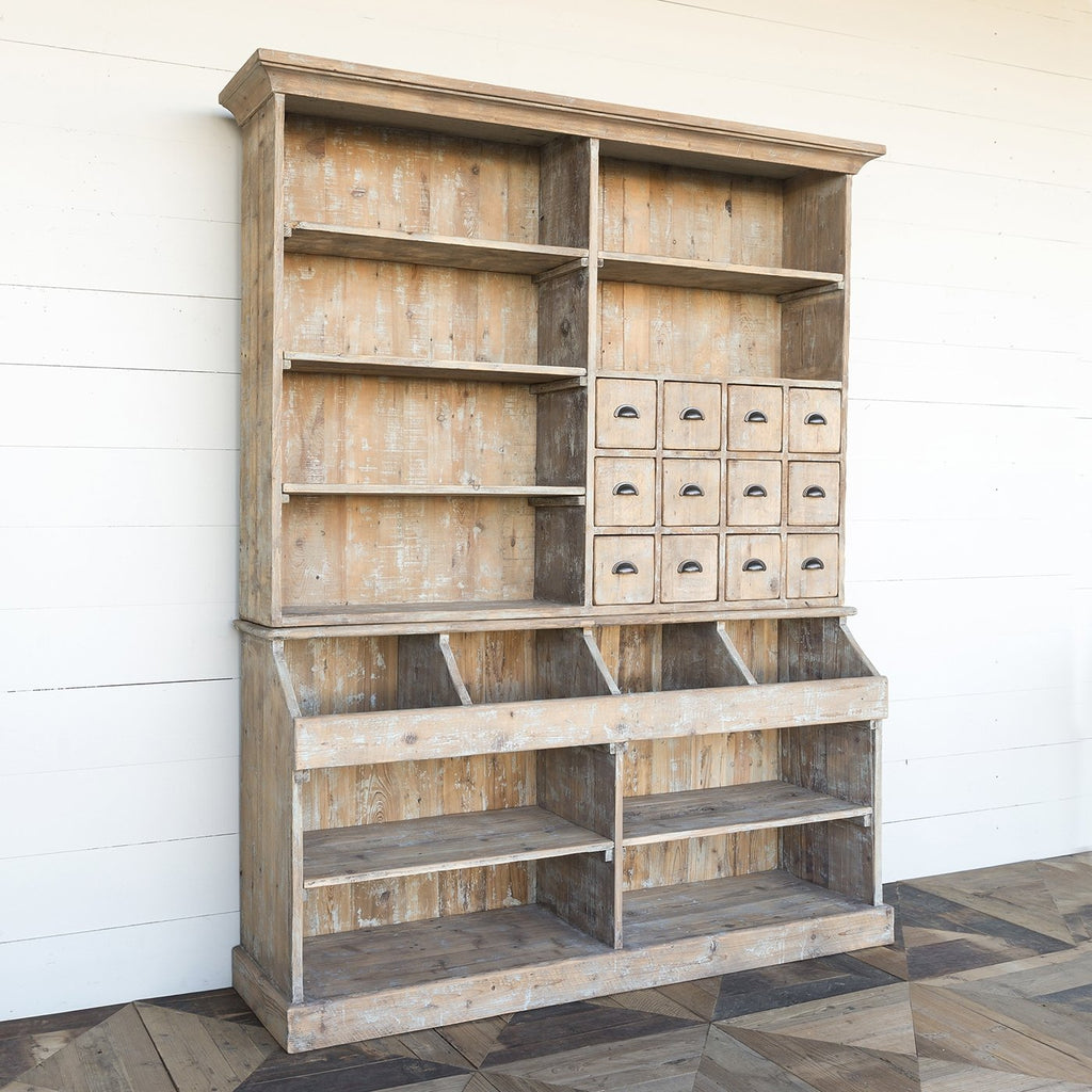 Old Town Store Wooden Hutch Cabinet