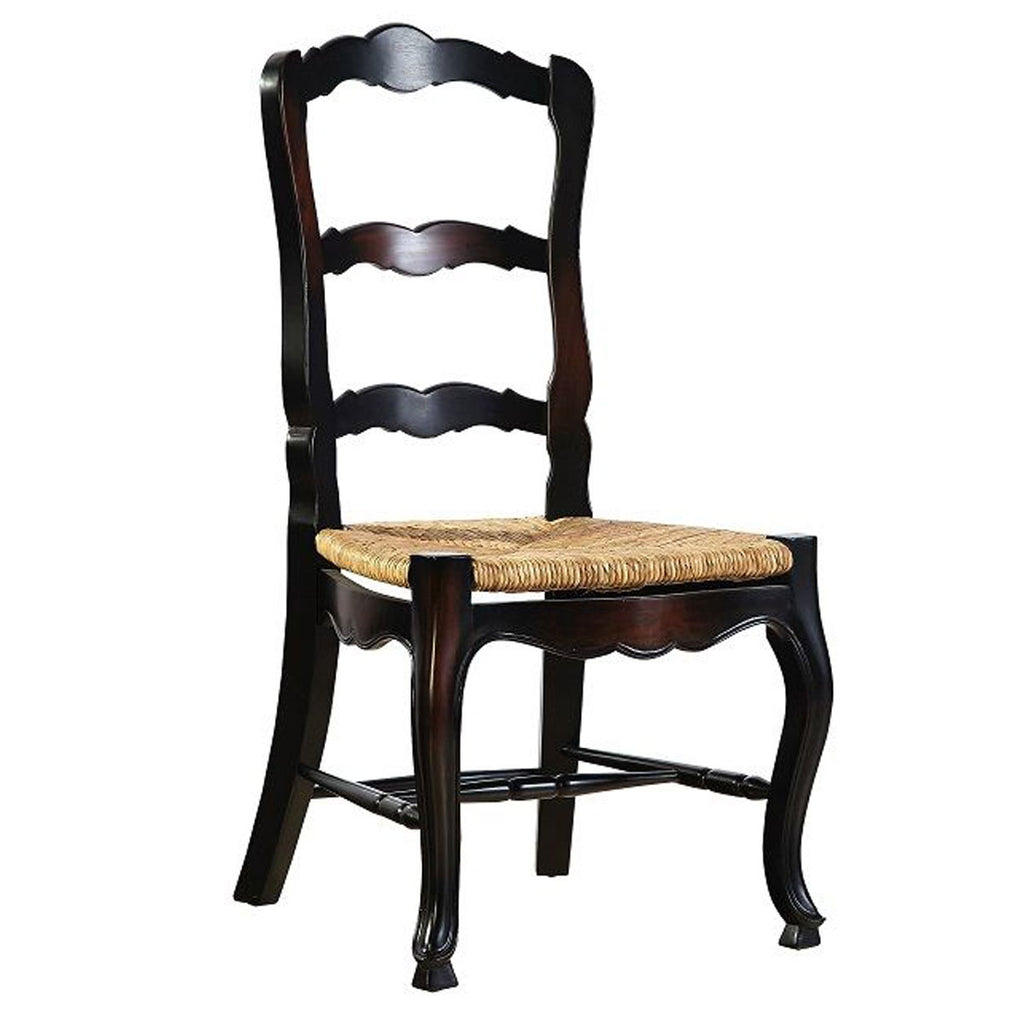 Mahogany Ladderback Side Chair in Black