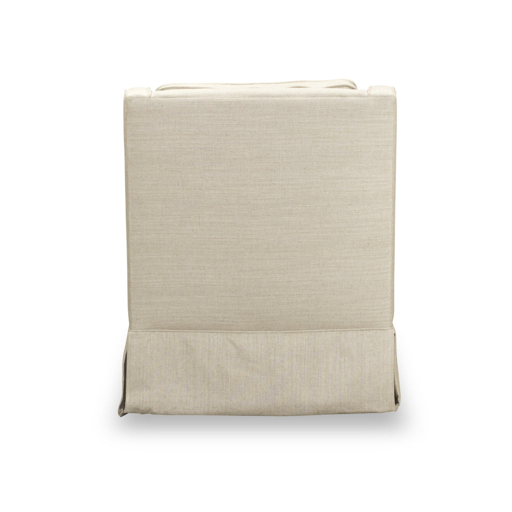 Clark Swivel Chair - Cream Linen
