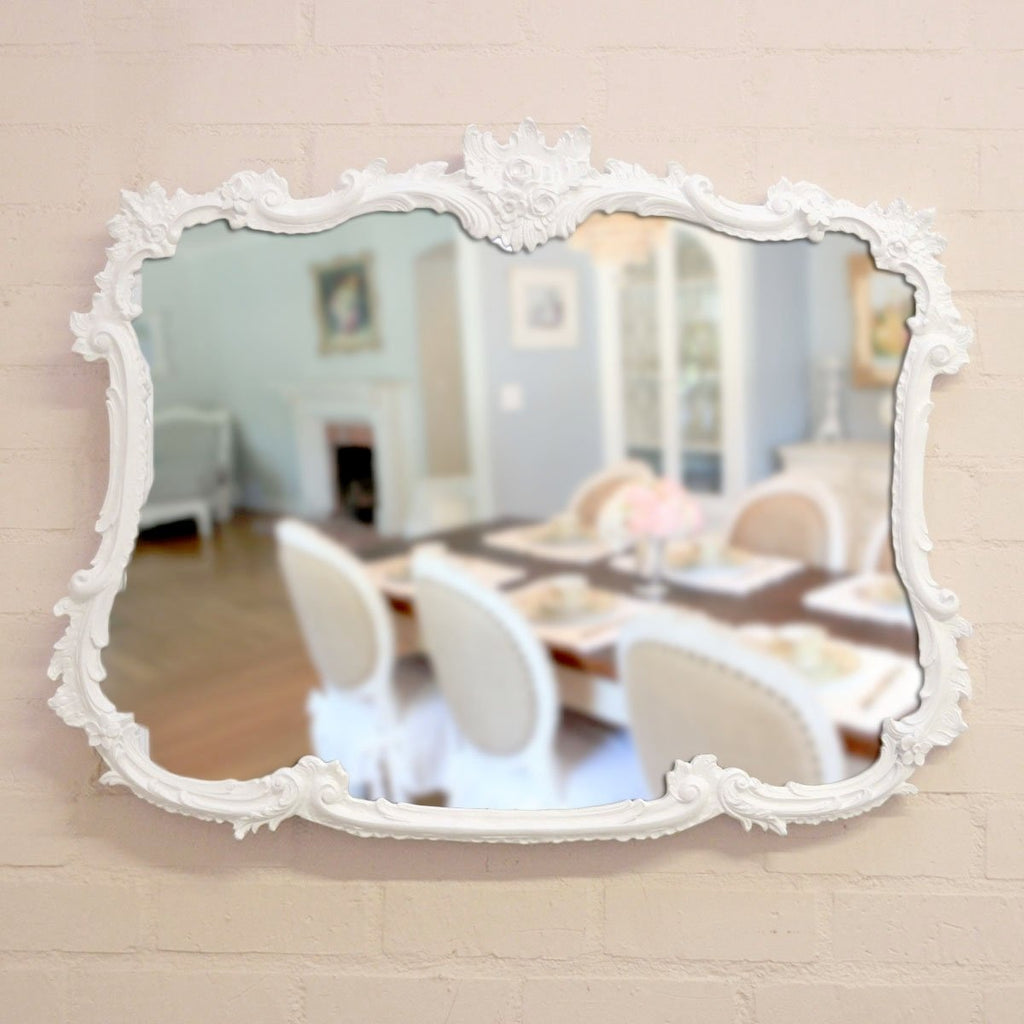 White Buffet Mirror