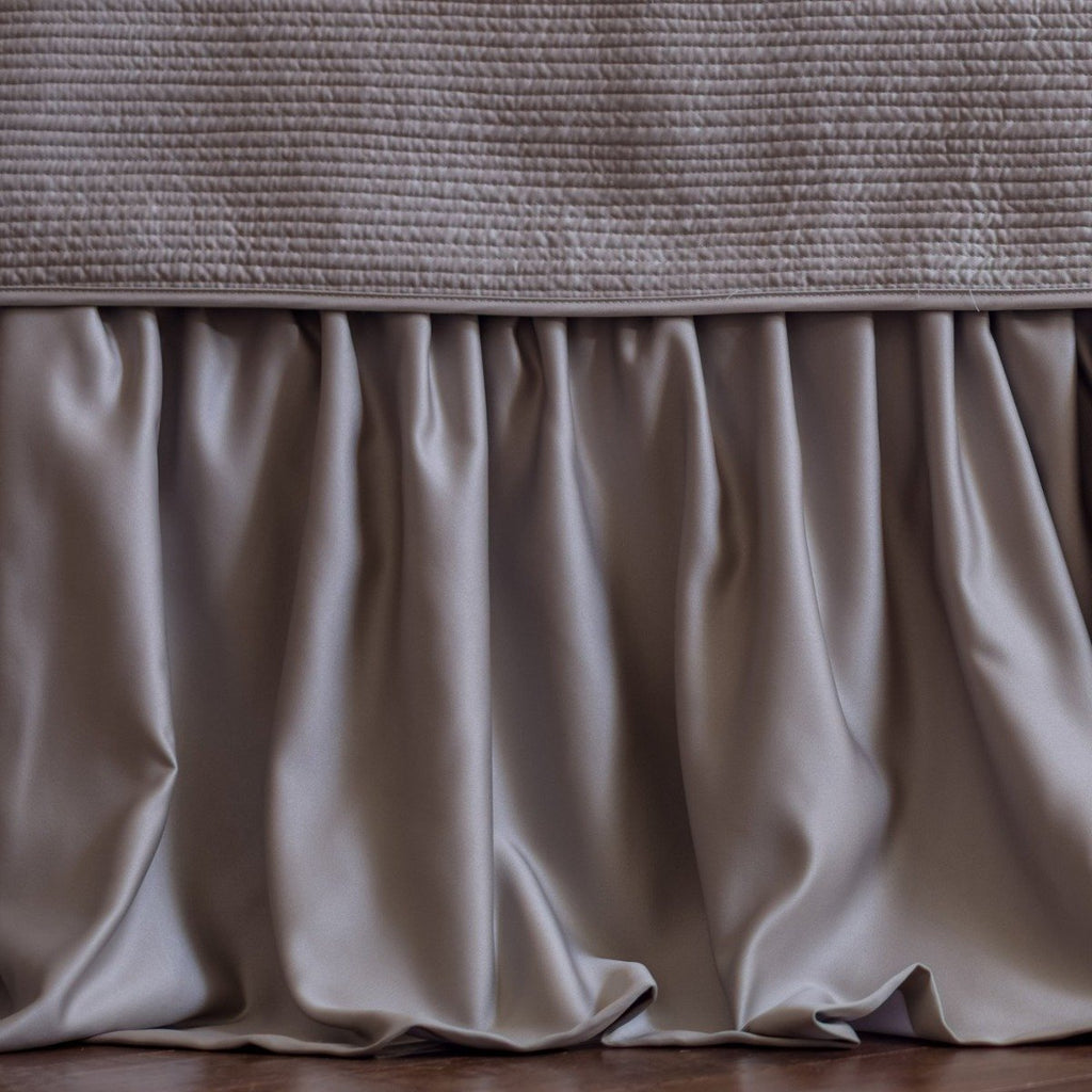 Lili Alessandra Battersea Gathered 3-Panel Bed Skirt