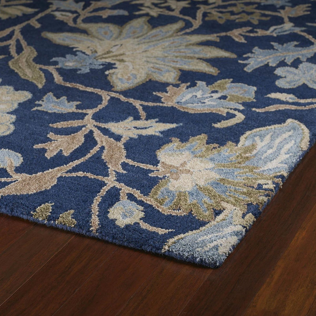 Brooklyn Blue Wool Rug
