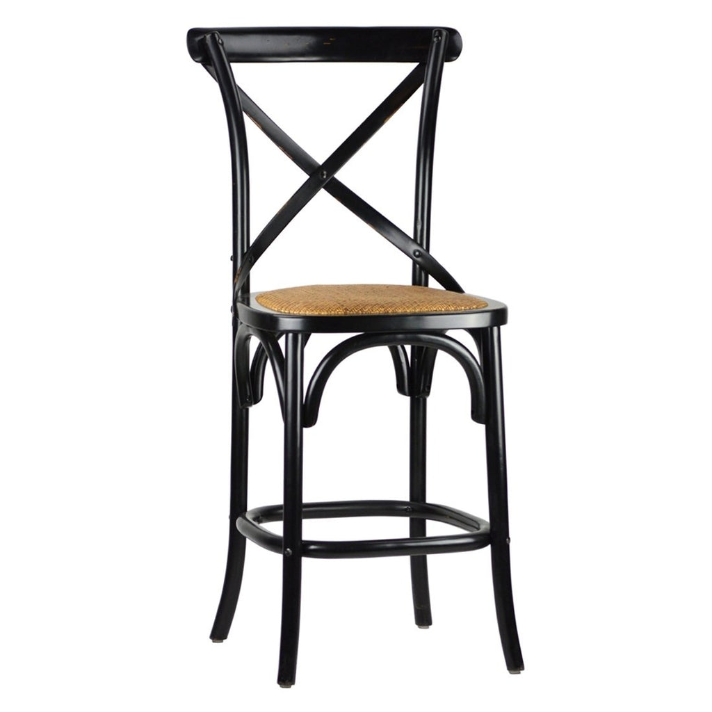 Black Gifford French Bistro Counter Stool