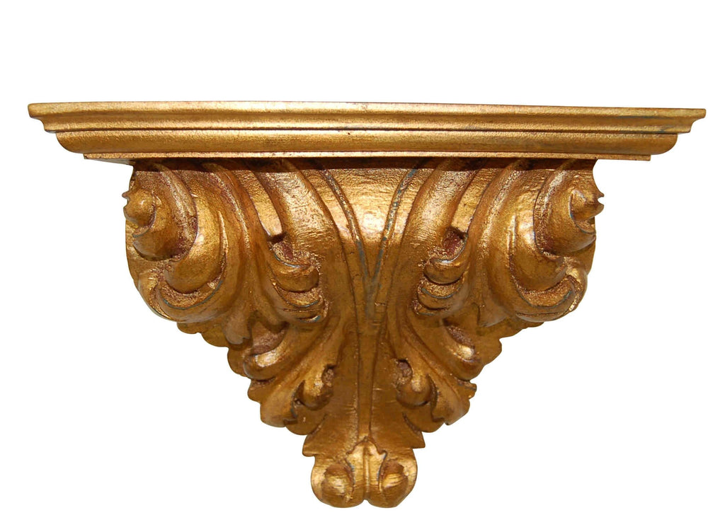 Antique Gold Leaf Scroll Bracket