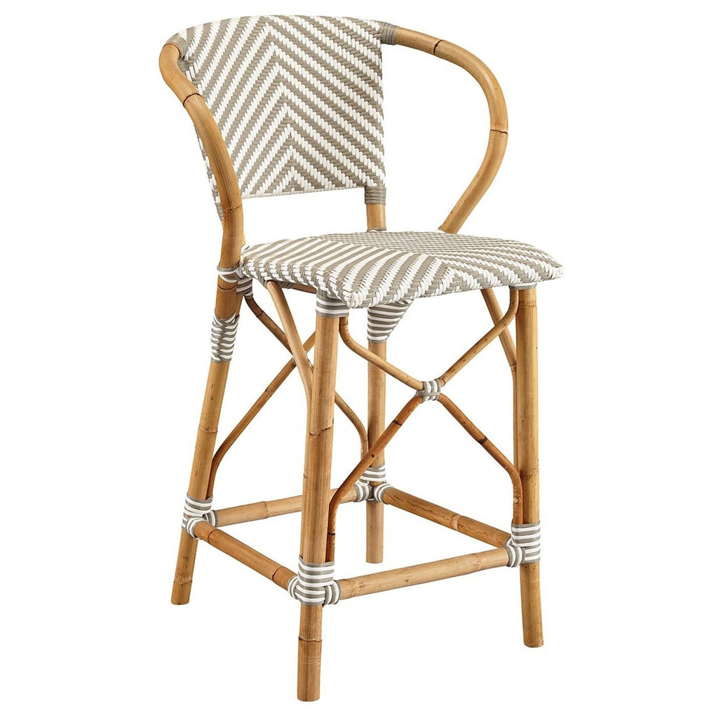 French Style Counter Stool in Grey