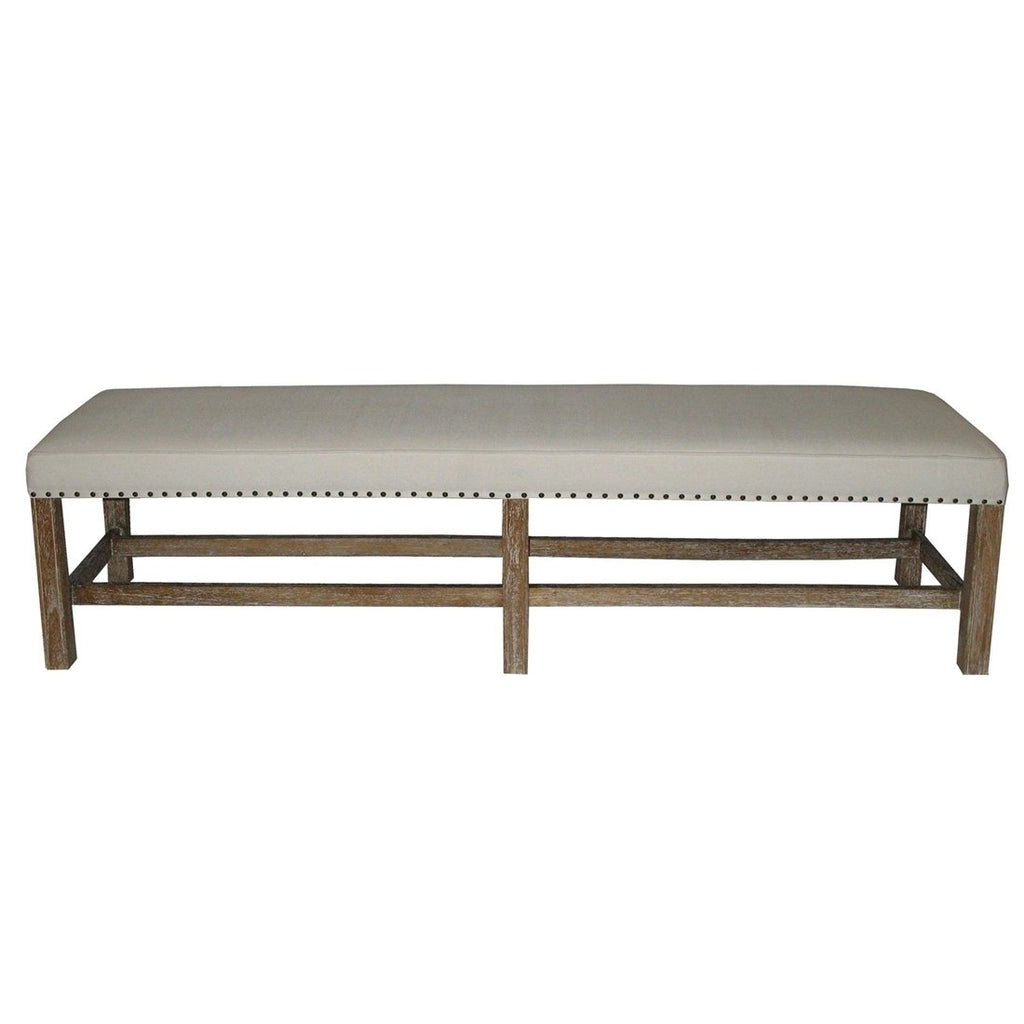 Swanson Grey Washed Bench