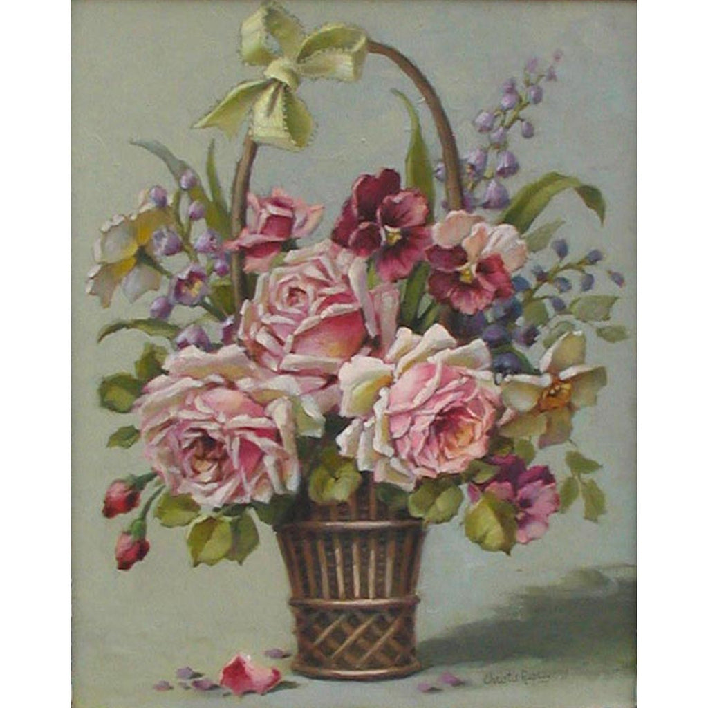 Christie Repasy Basket Bouquet Original Canvas Print