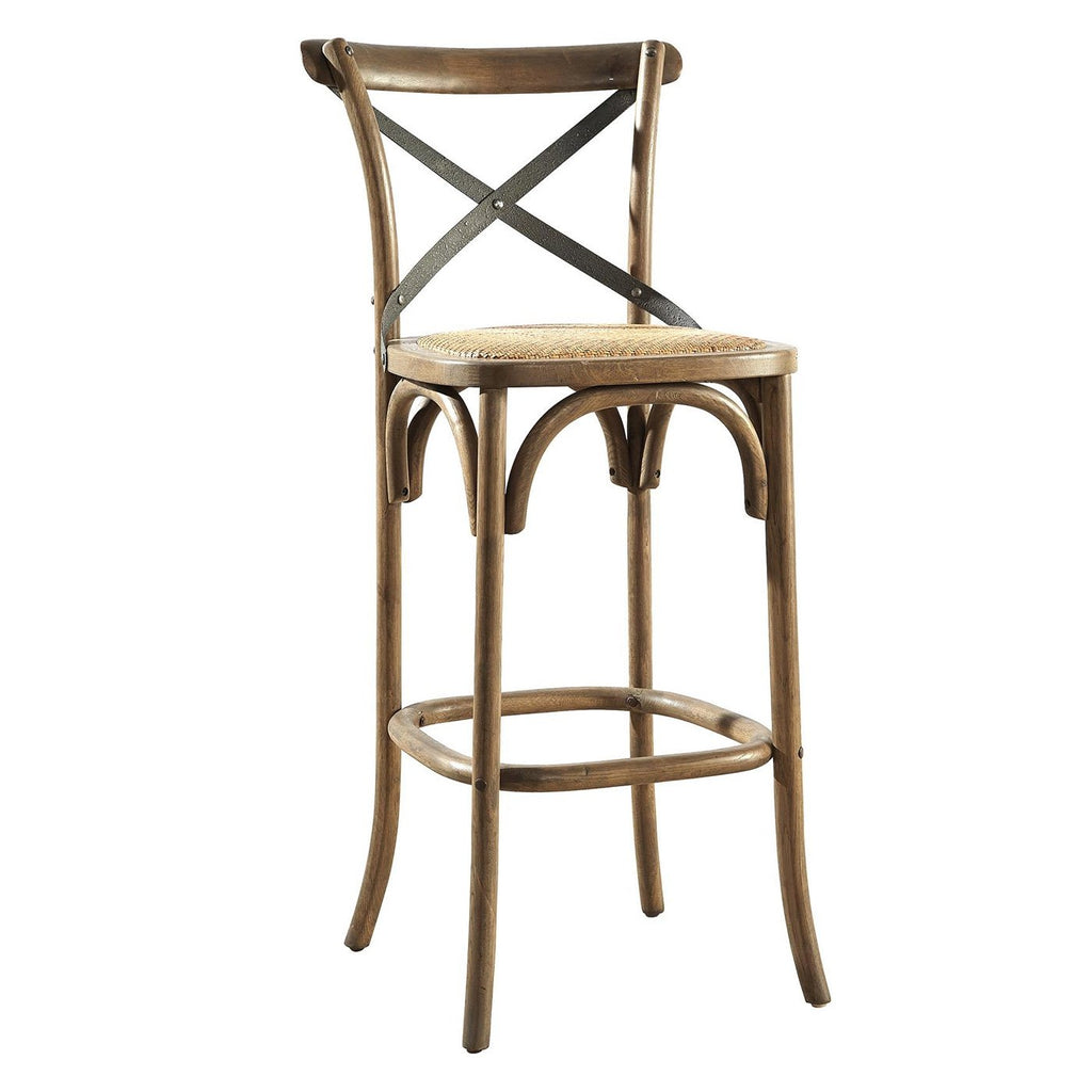 Beverly Bar Stool with Metal Back