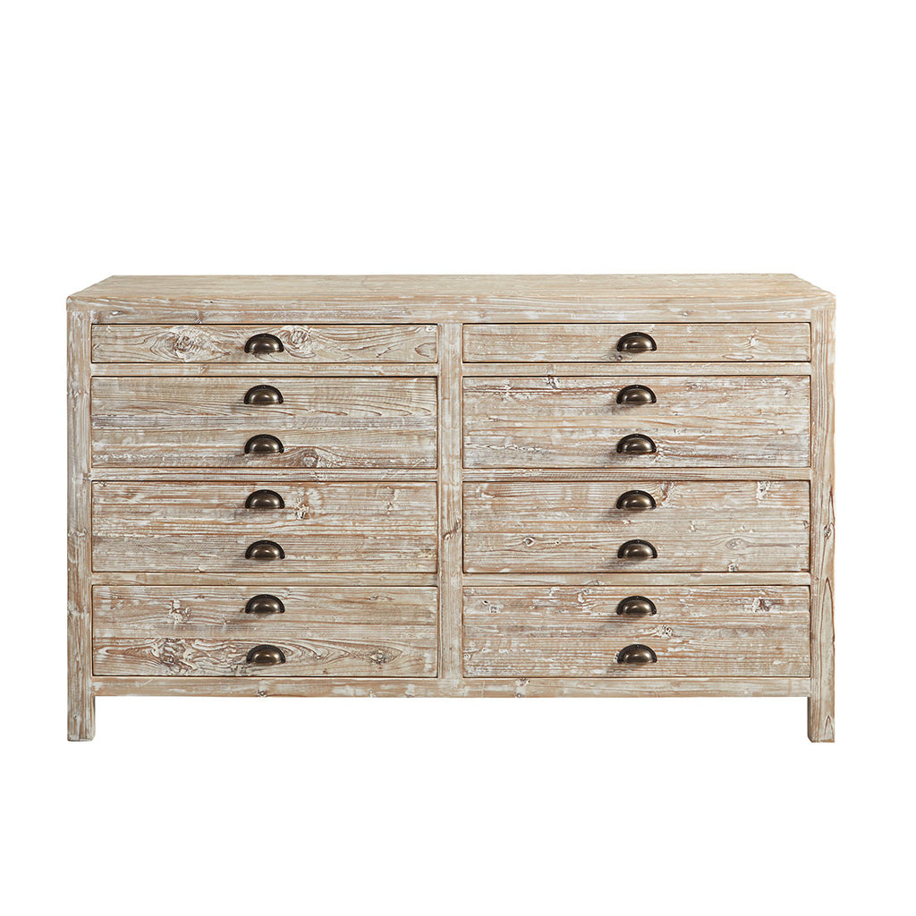 Rustic Pharmacist Chest in White