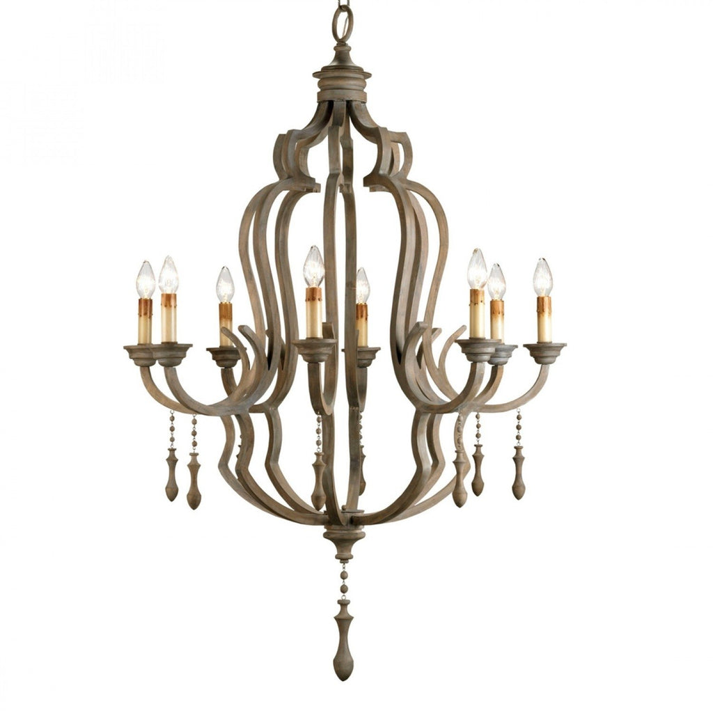 Washed Gray Waterloo Chandelier