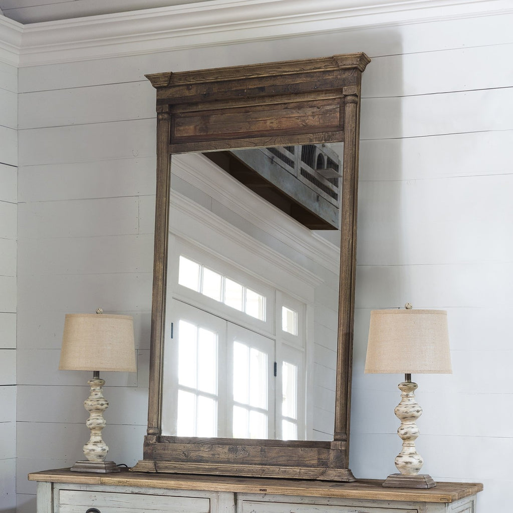Elm Wood Mirror