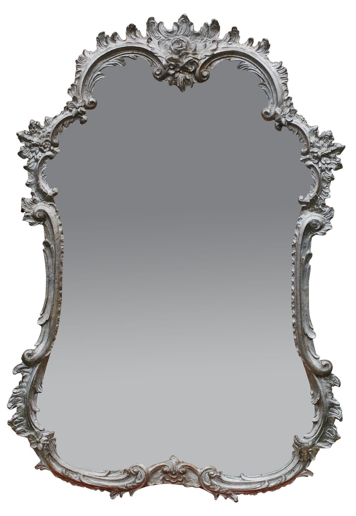 Shabby Shimmer Rococo Rose French Mirror