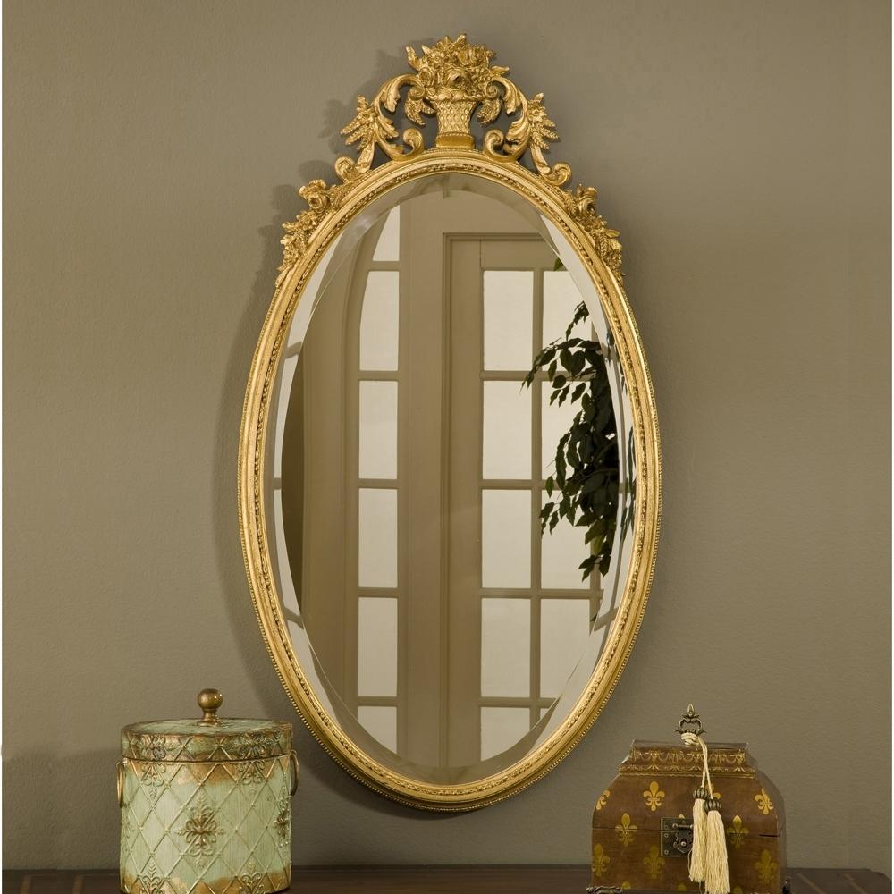 Oval Flower Basket Mirror