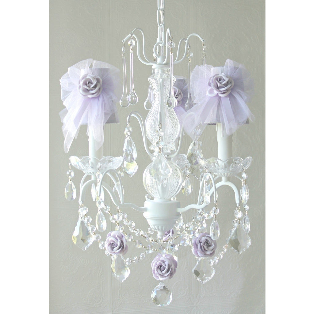 Lavender Tulle Lamp Shade Chandelier