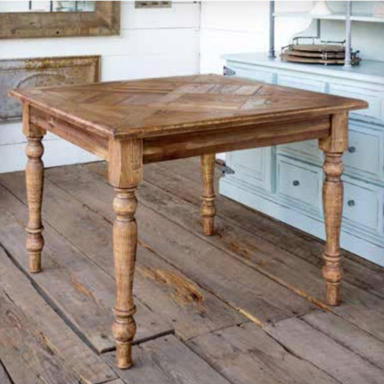 Square Pine Dining Table