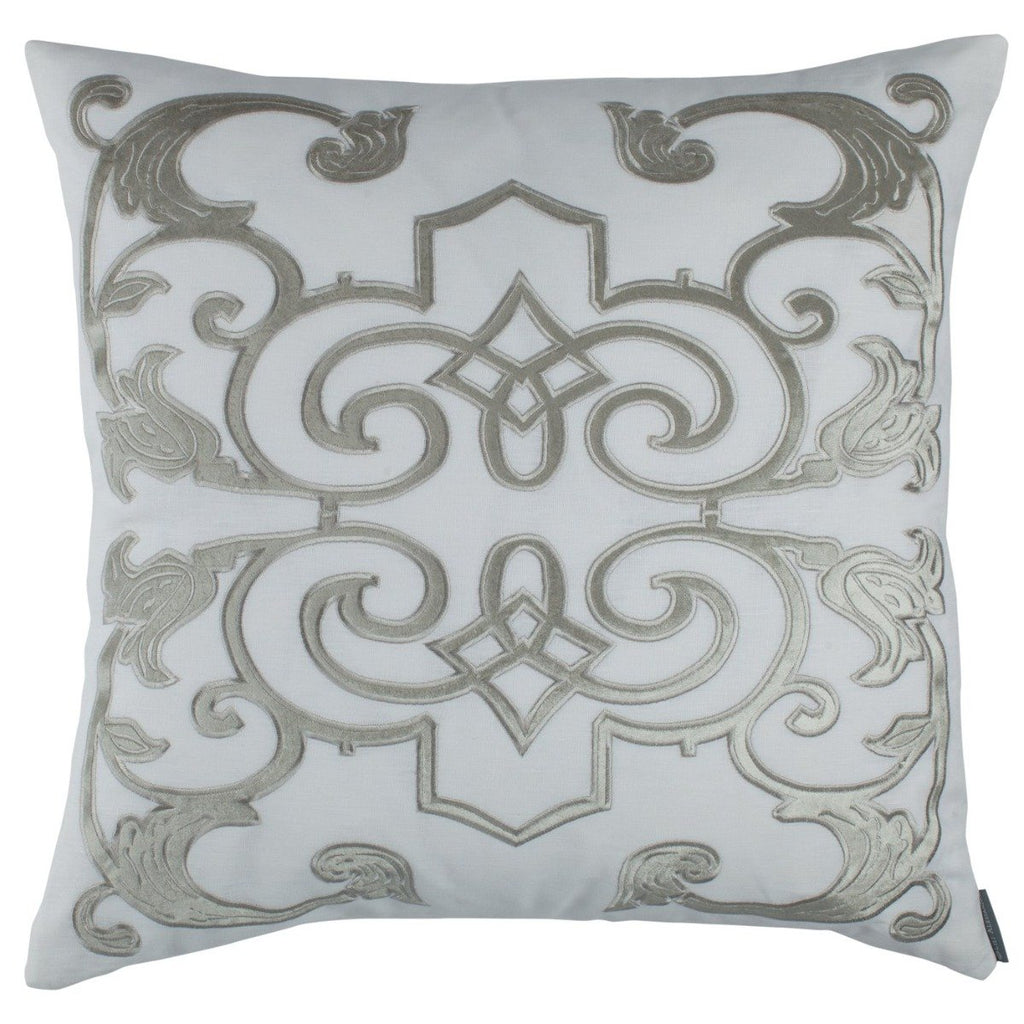 Lili Alessandra Mozart White Linen Throw Pillow