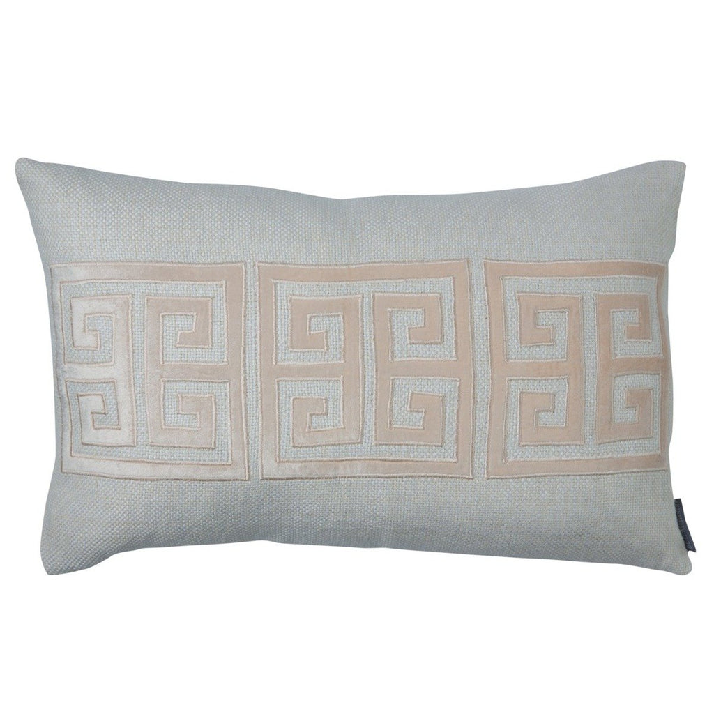 Lili Alessandra Greek Key Blush Throw Pillow