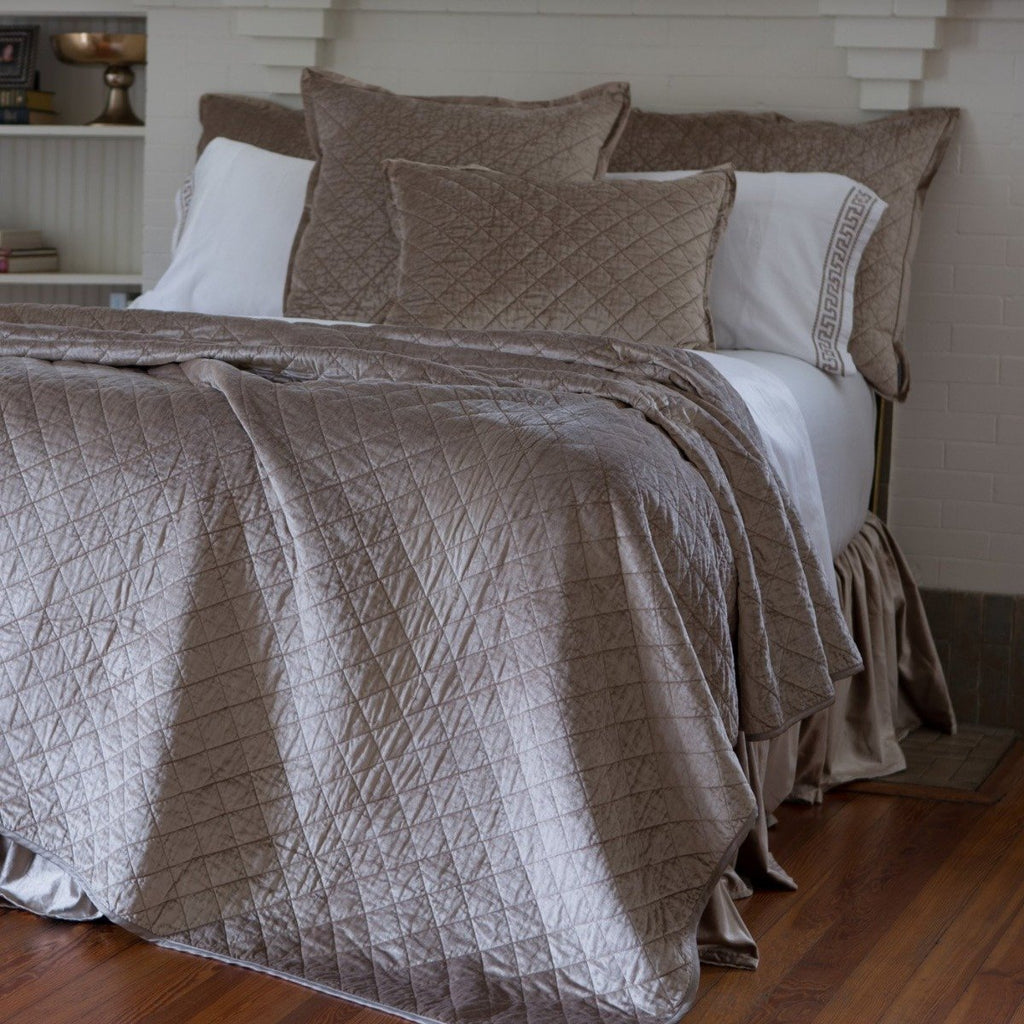 Lili Alessandra Chloe Diamond Quilted Coverlet