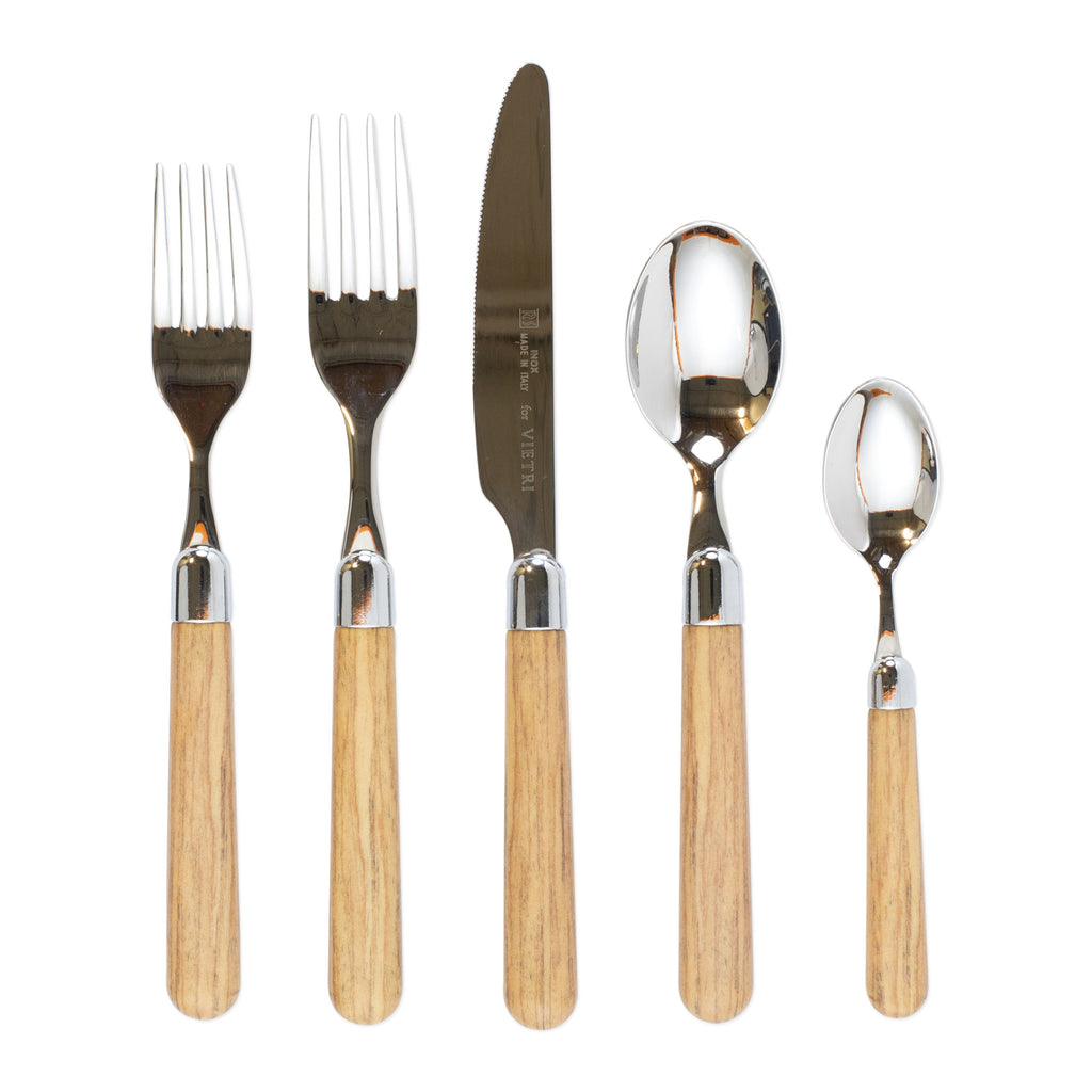 Albero Oak Five-Piece Place Setting
