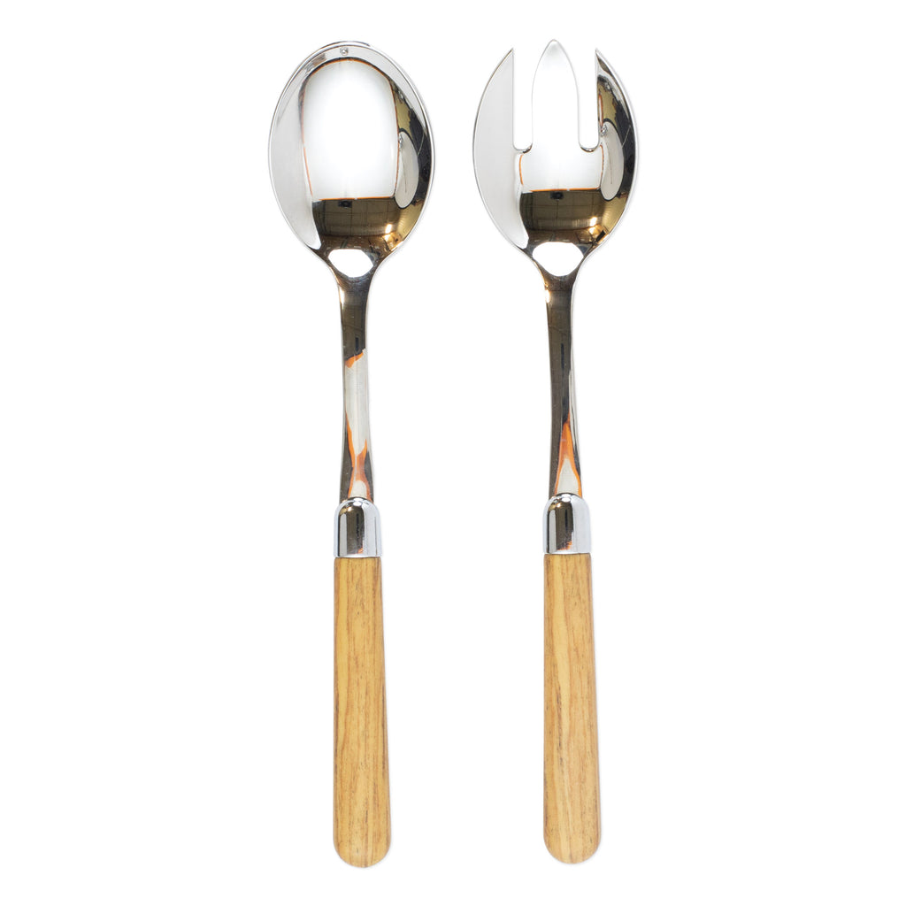 Albero Oak Salad Server Set