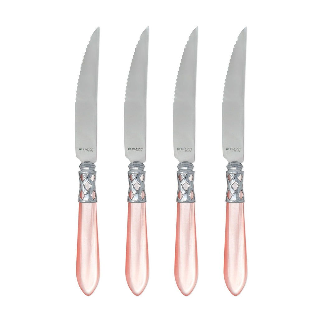Aladdin Brilliant Finish Aqua Steak Knives