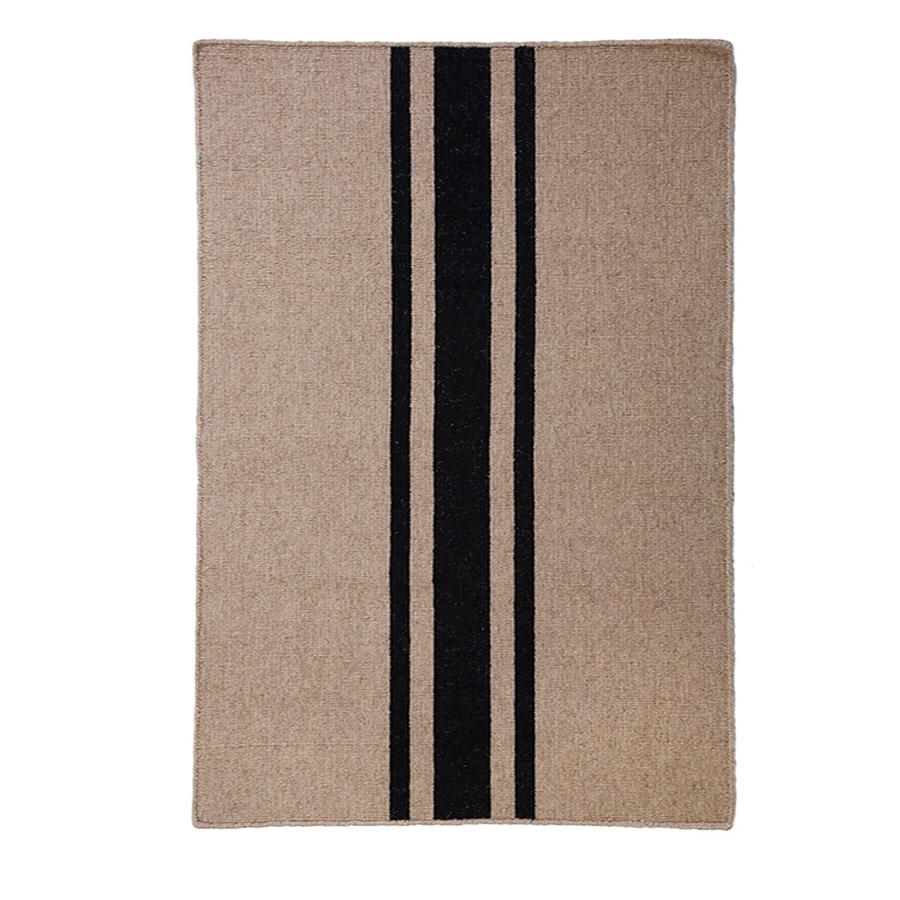 Pom Pom at Home Beachwood Handwoven Rug in Natural/Black