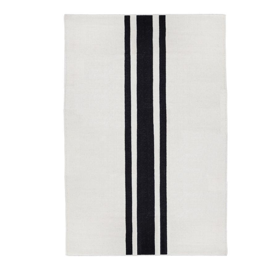 Pom Pom at Home Beachwood Handwoven Rug in Ivory/Black