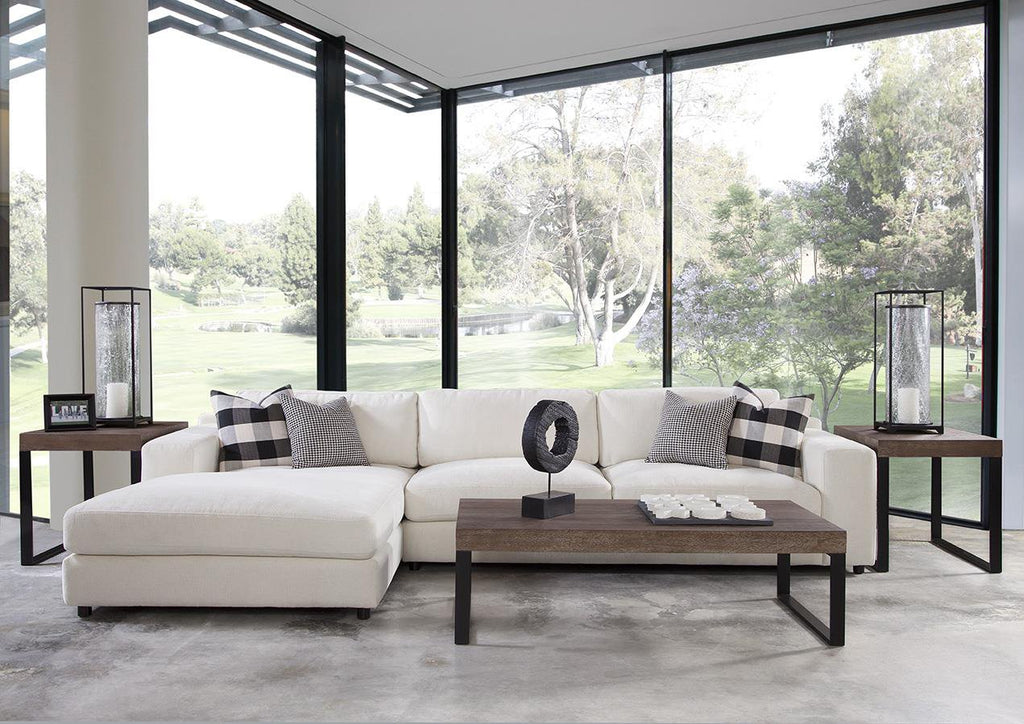 Adamson Sectional Sofa/Chaise in Harmony Snow