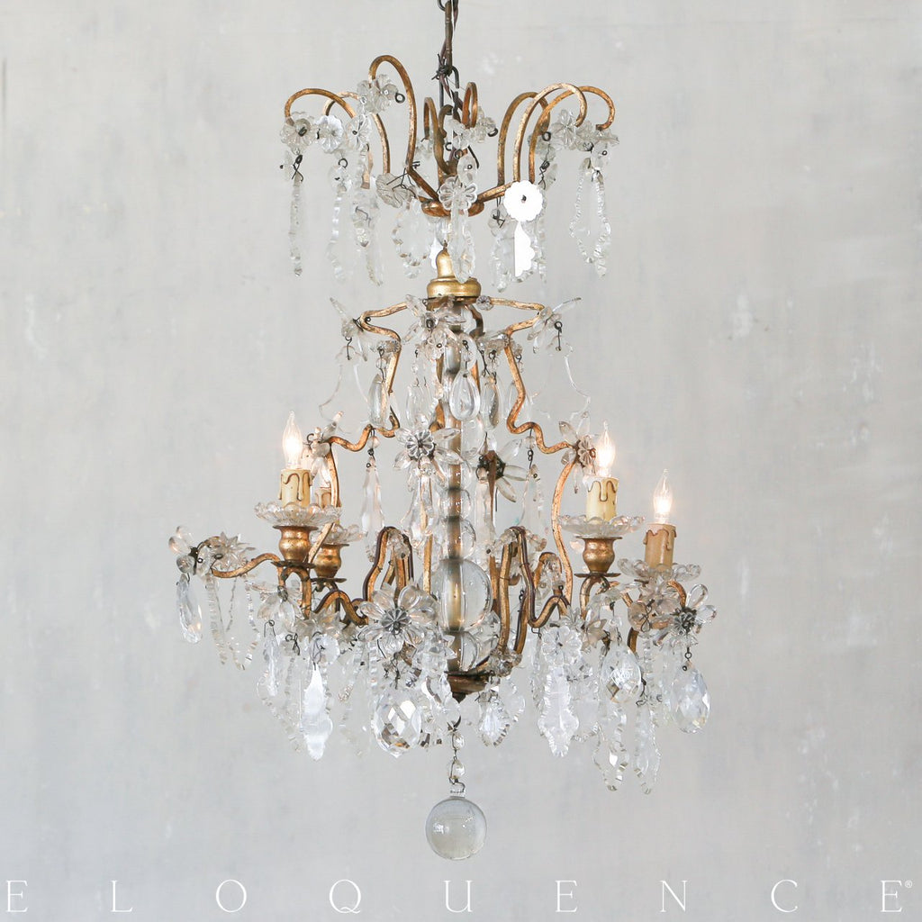 Eloquence Antique French Chandelier in Brass