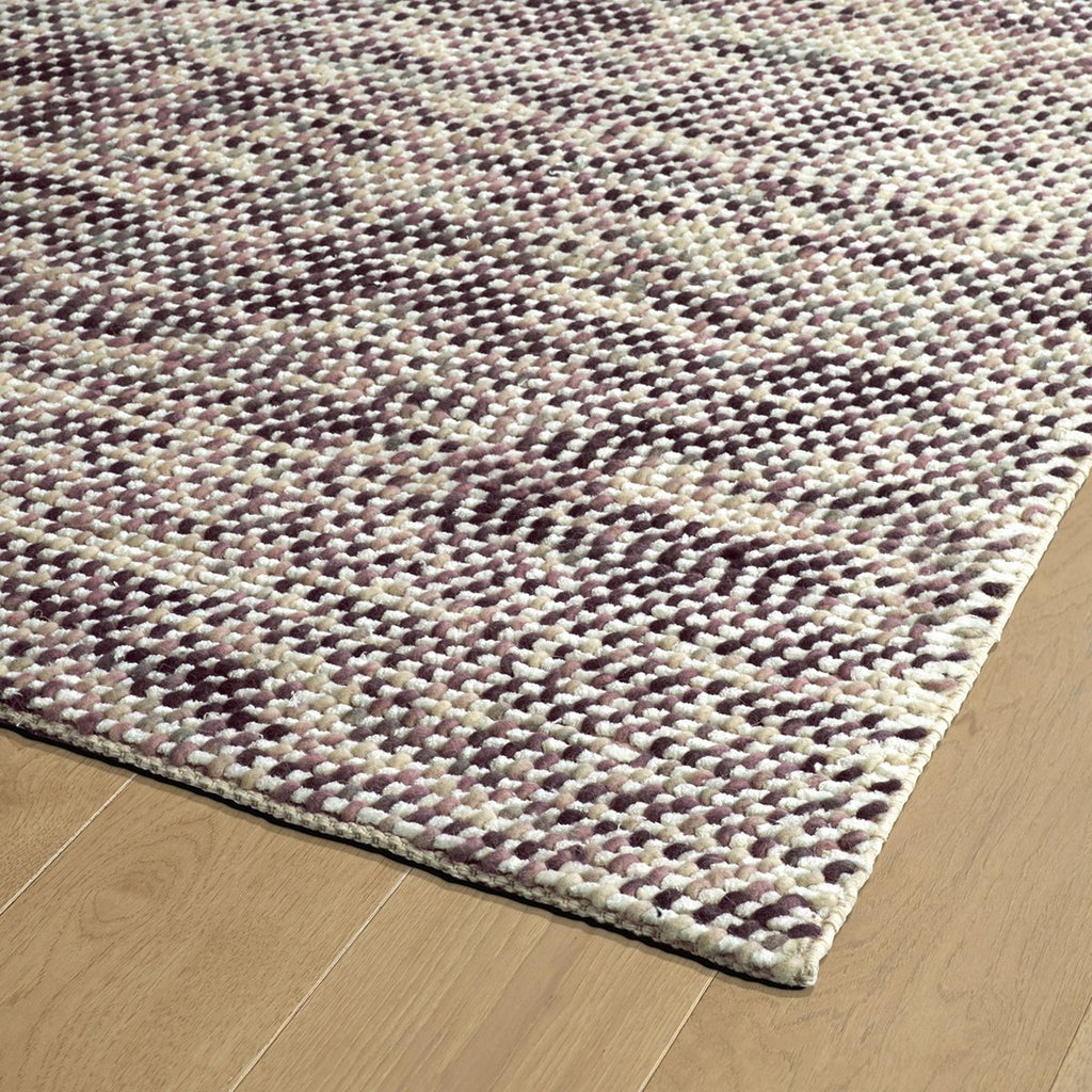 Cord Purple Wool Rug