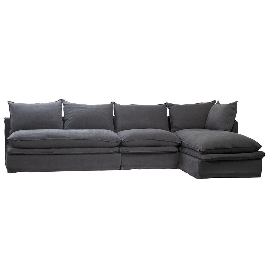 Thessaly L-Shape Sofa with Right Side Chaise