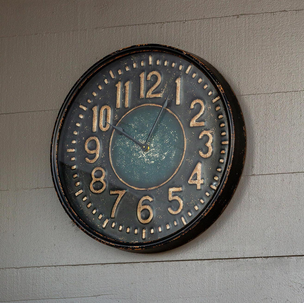 Metal Station Clock