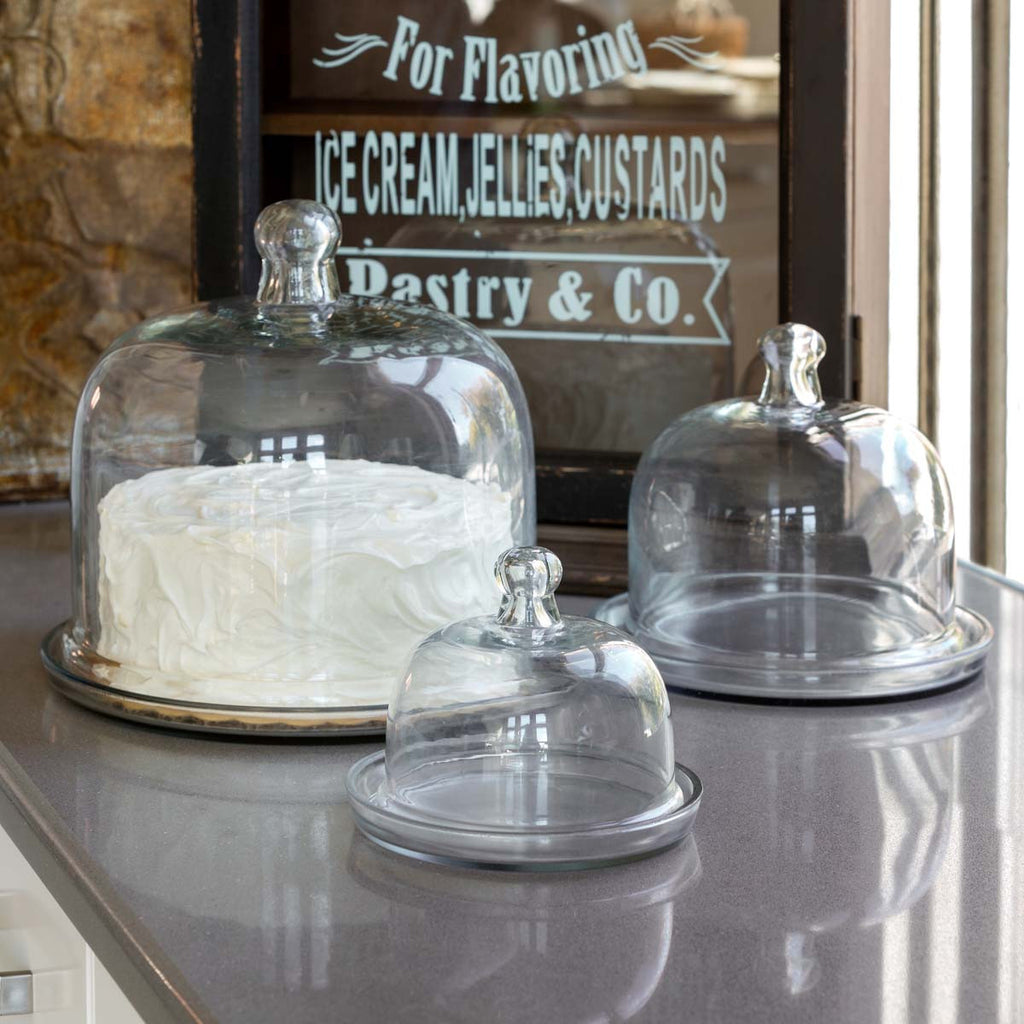 Trio of Glass Pastry Domes