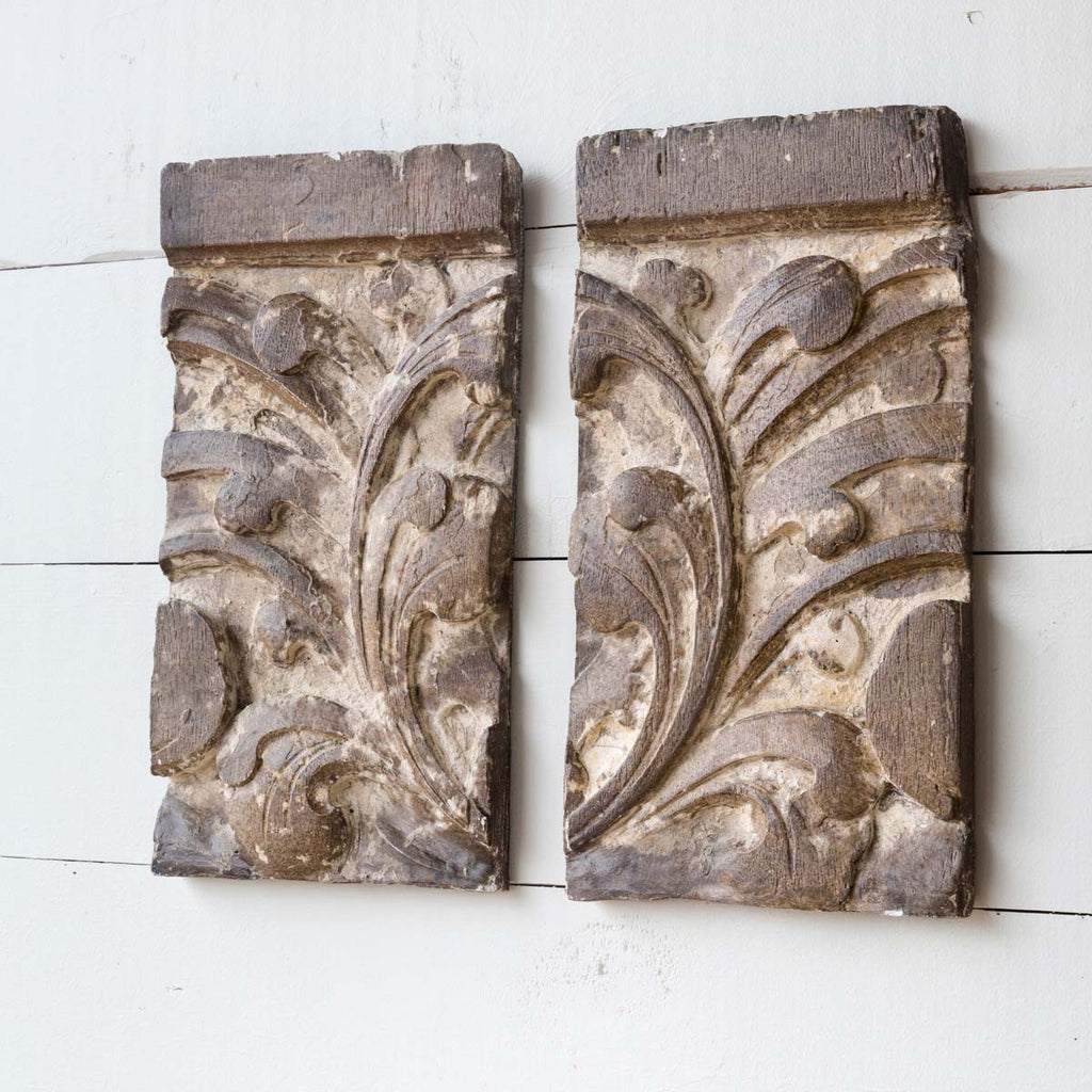 Flower Inspired Architecture Decor - Set of 2