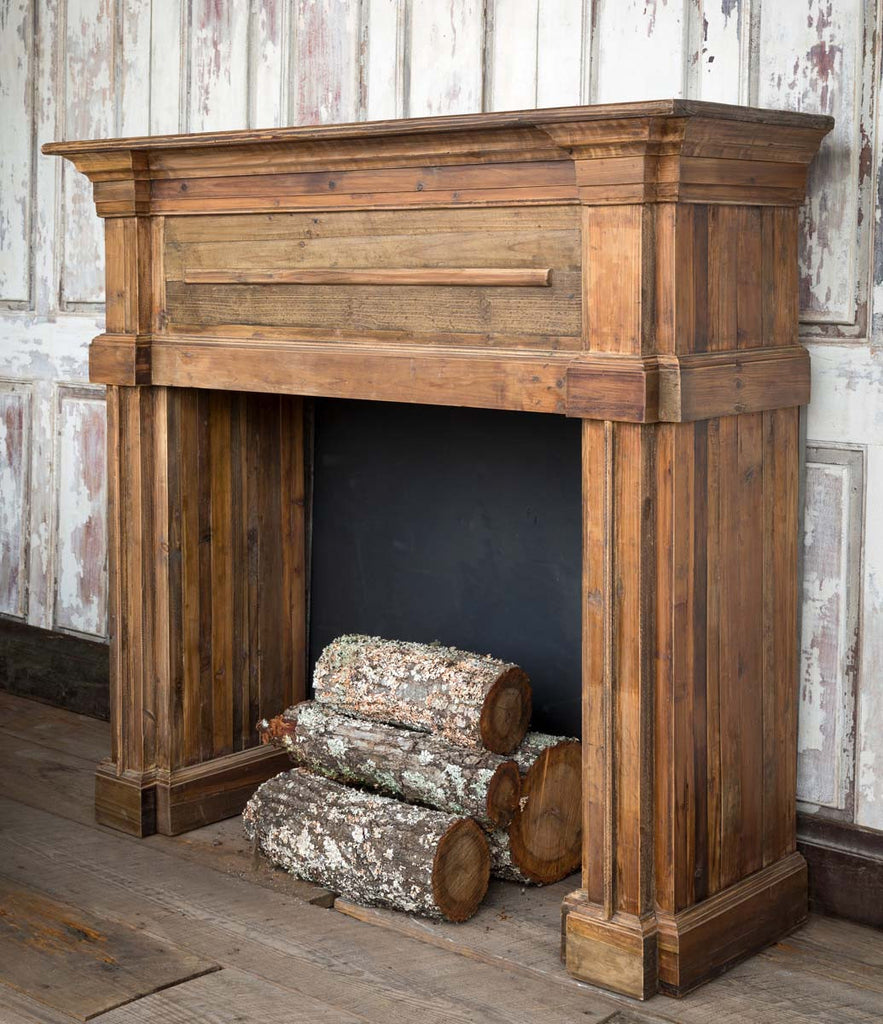 Carved Pine Fireplace Mantel