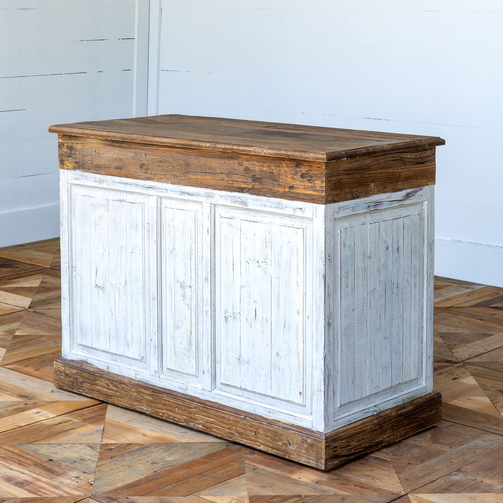 Rustic Elm Painted Counter