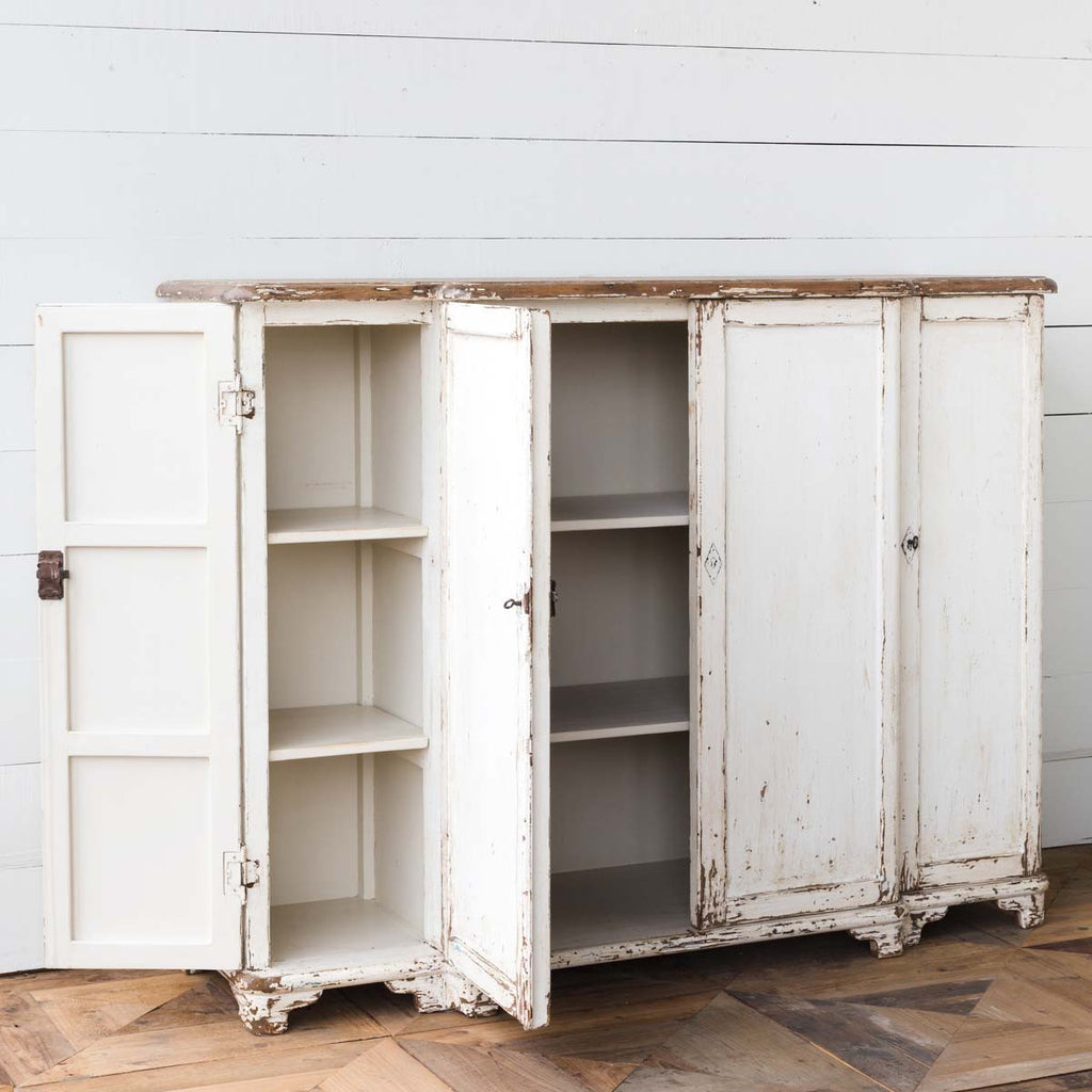Grand Weathered White Entrance Cabinet