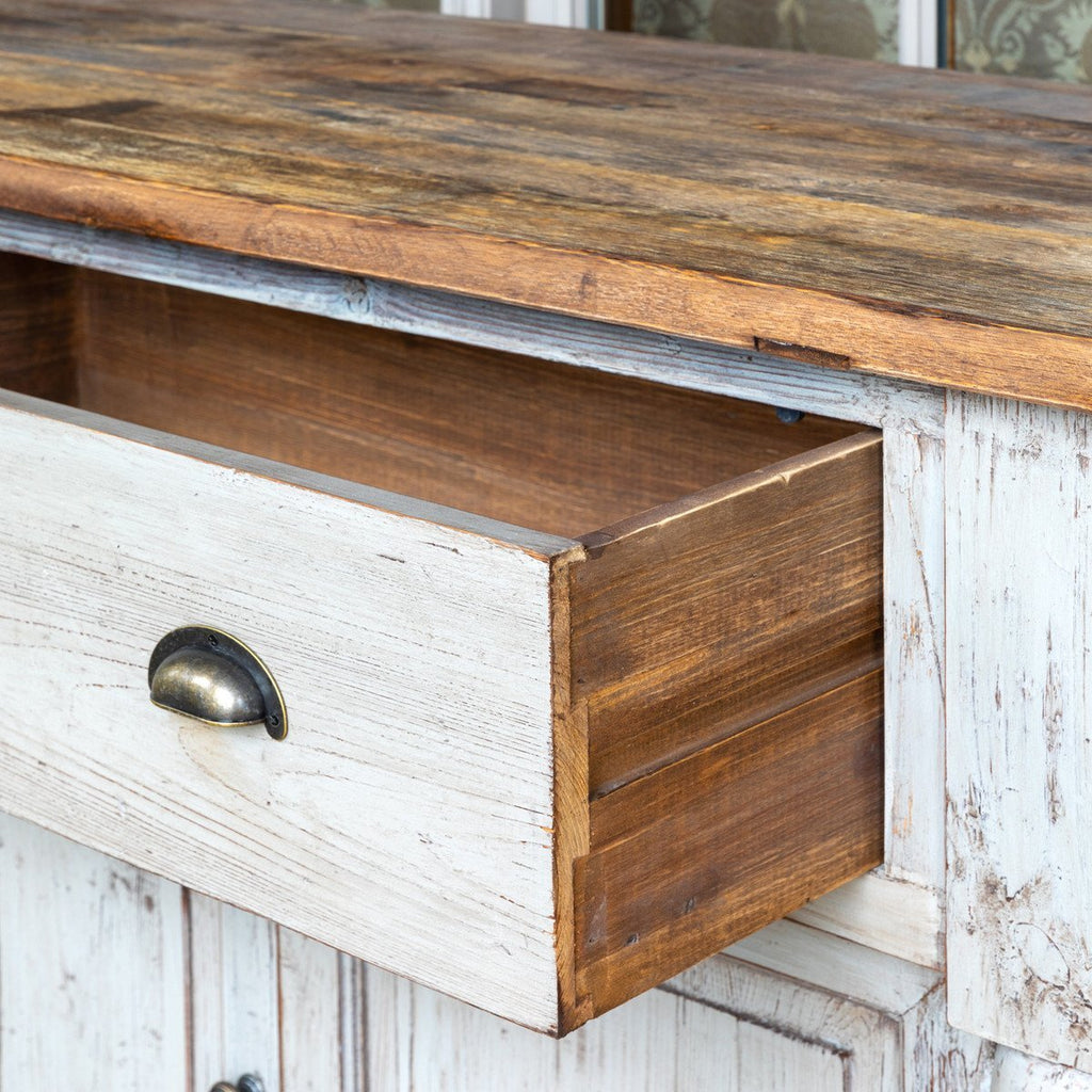 French Blue Farmhouse Style Elm Buffet