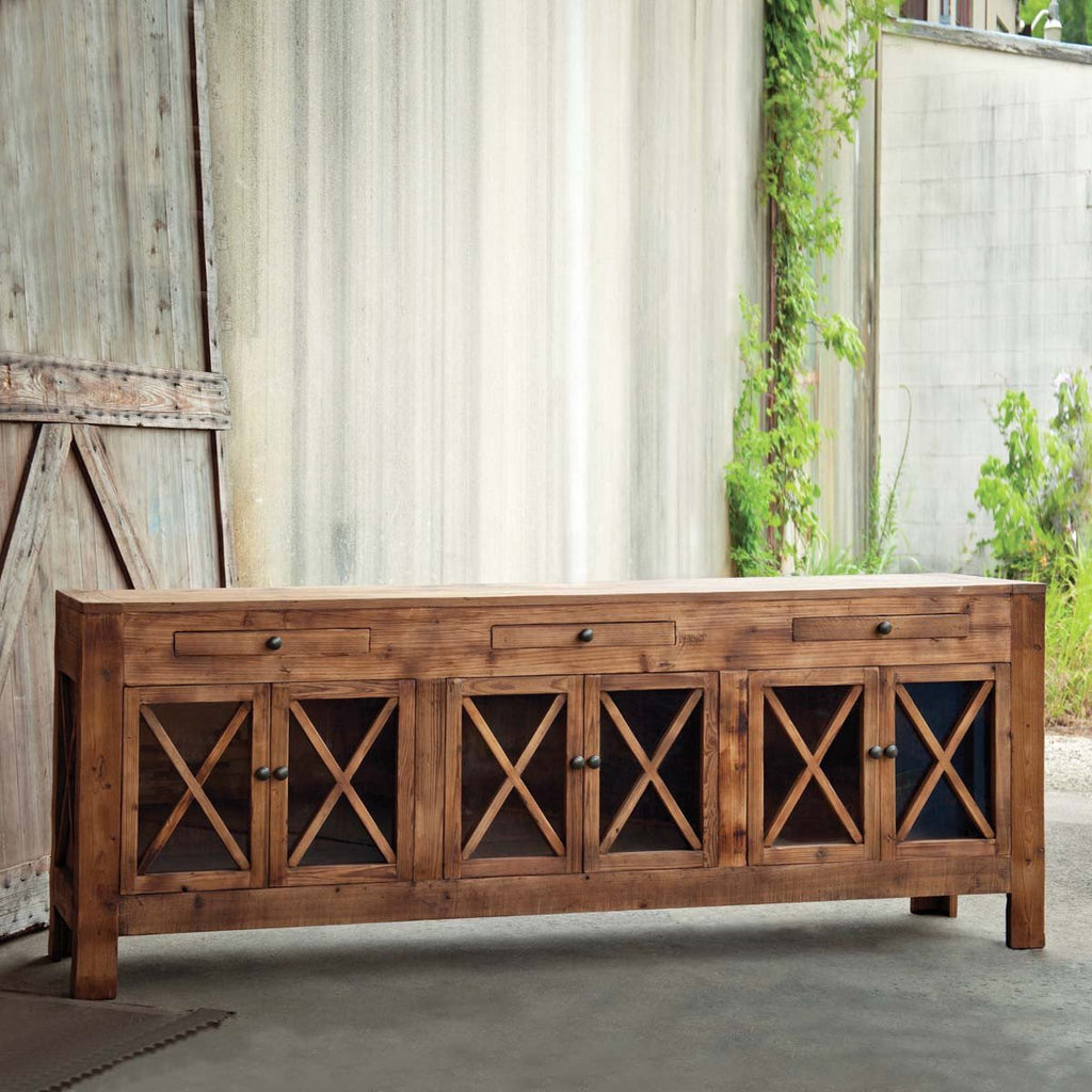 Criss Cross Farmhouse Sideboard
