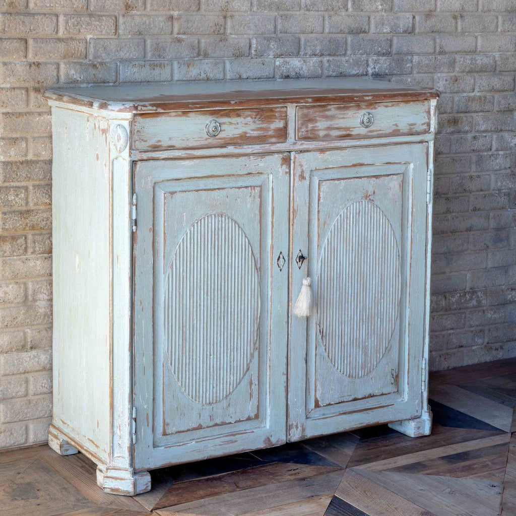 European Style Blue Washed Server