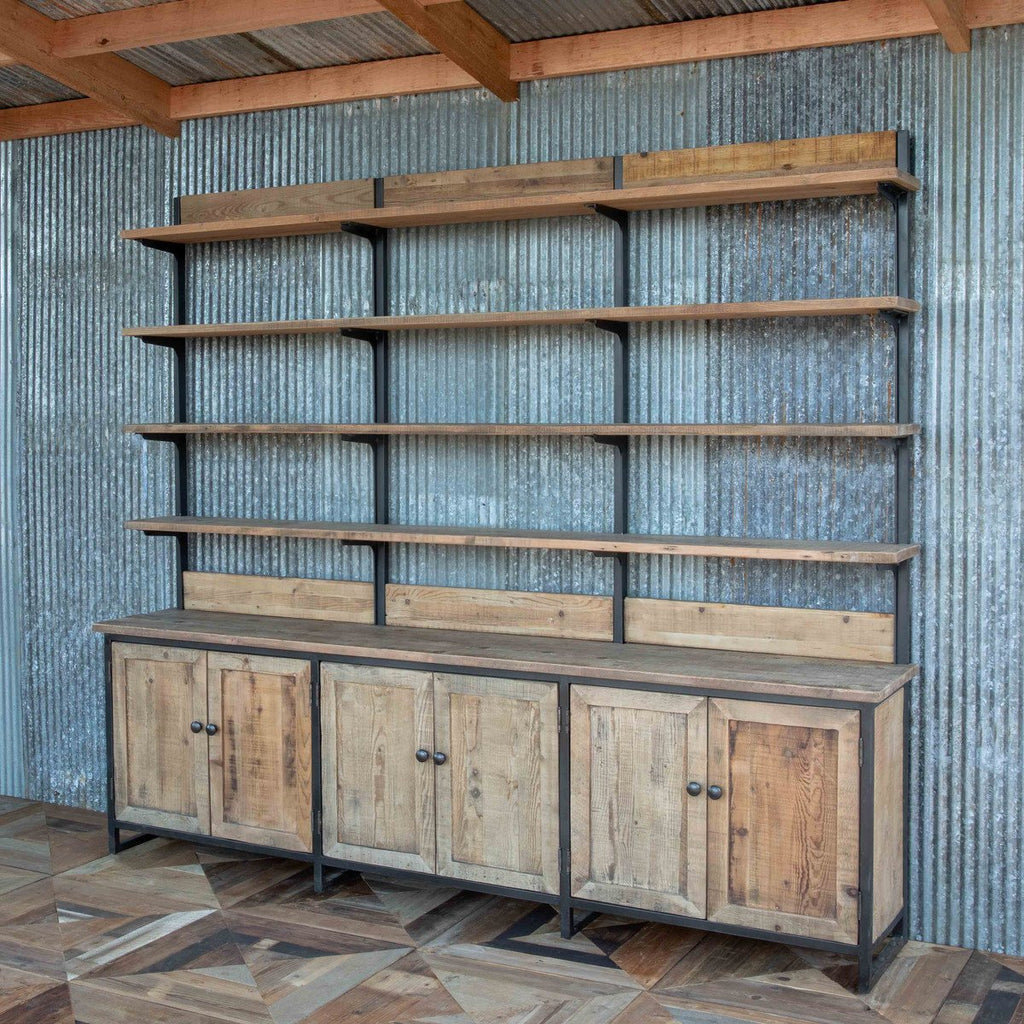 Rustic Industrial Wall Shelf Unit