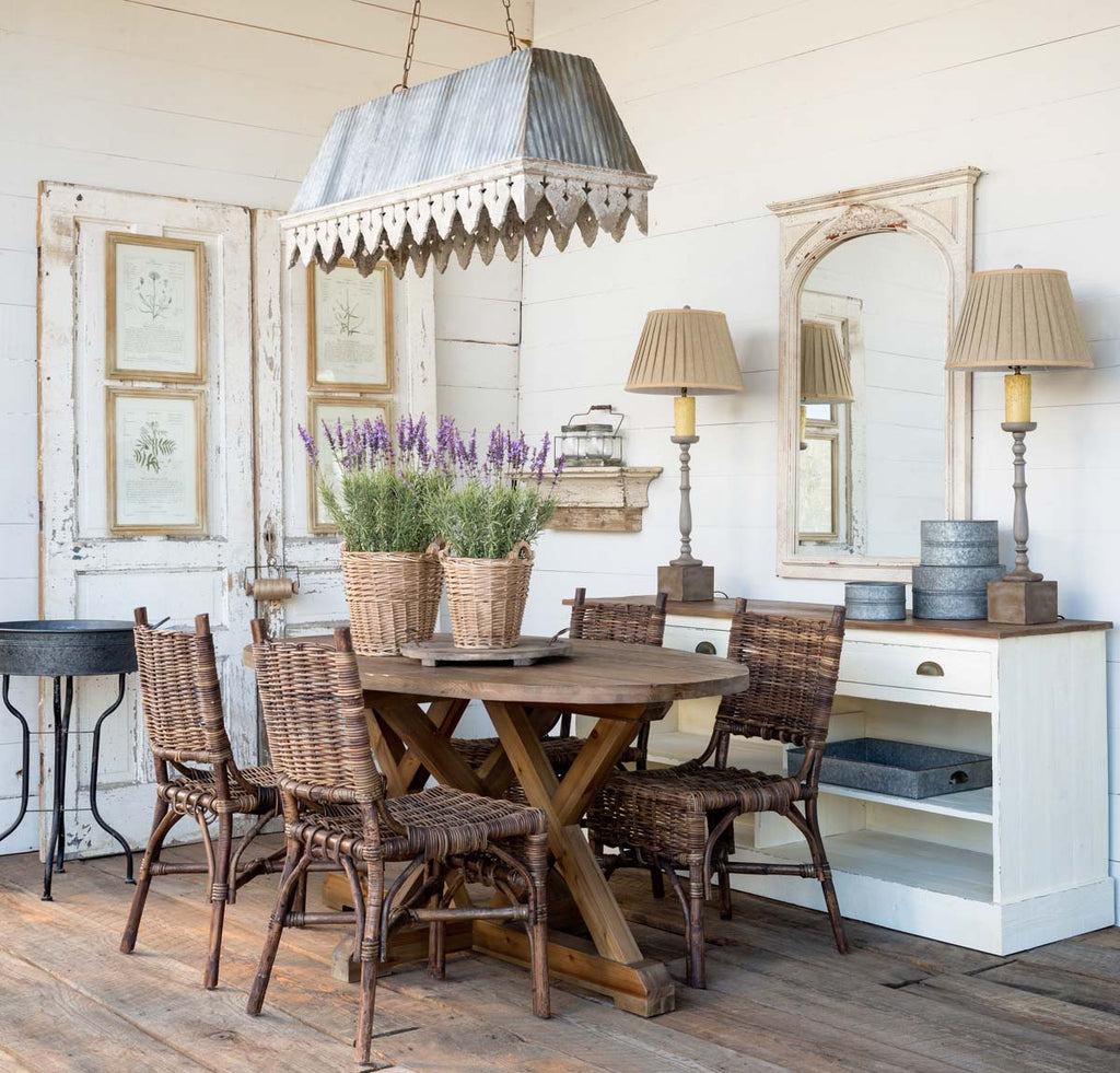 Rustic Trestle Table