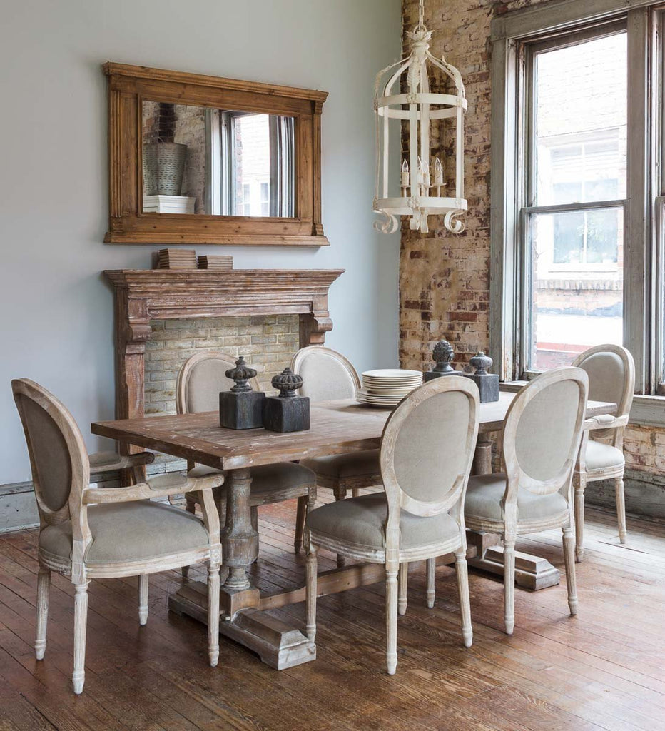 French Farmhouse Column Dining Table