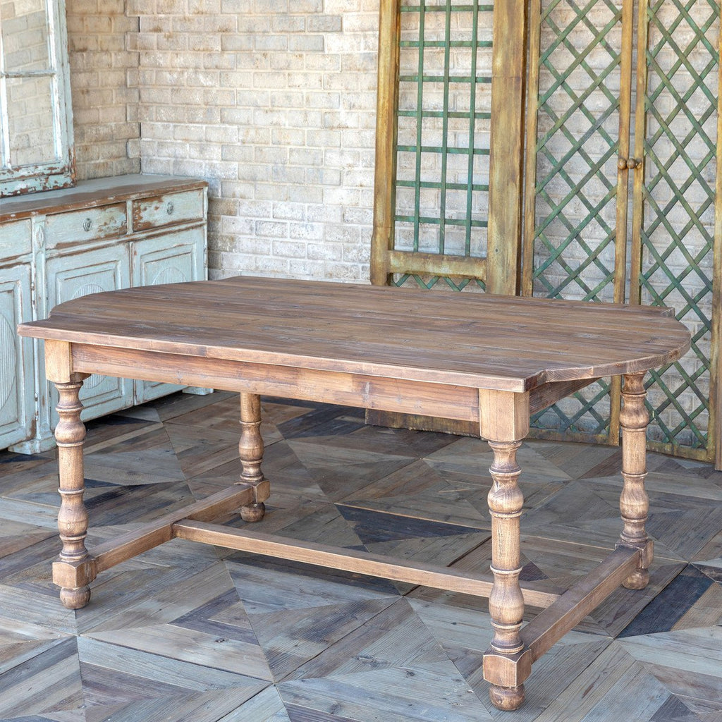 Rustic Pine Farmhouse Dining Table